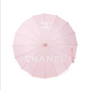 Chanel Pink Logo Parasol